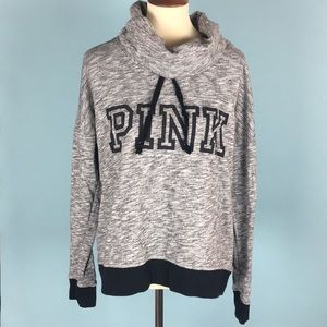 VS PINK Gray Cowl Neck Pullover